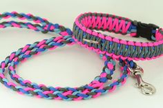 Matching Set Life Survival 550 Paracord Braided 5 Ft Dog by CordMe, $49.00-getting this for Marley