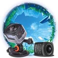 black Andoer Panorama 360° VR Video Camera Full HD 1440P 1080P 30FPS - Tomtop.com