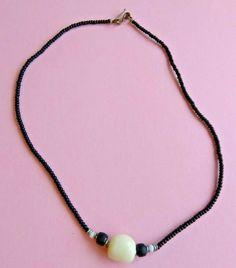 Vintage Black and Beige Beaded Plastic Necklace Costume Jewellery   A954 Vintage Black, Costume Jewelry, Beaded Necklace, Plastic, Beige, Costumes, Jewellery, Best Deals, Ebay