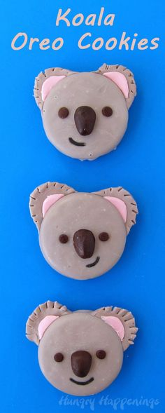 Koala Oreo Cookies by @Hungry Happenings holiday recipes and party food