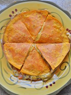 Quesadillas with Monterey Jack Cashew Cream. The cashew cheese tastes like the real thing!