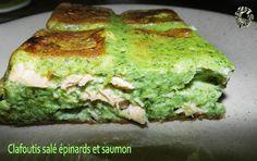Clafoutis salé épinards et saumon