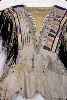 Northern Cheyenne, collected at Fort Laramie between 1855-1861. Detail.