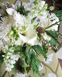 Wintery White Bride Bouquet
