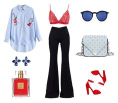 """Blue and red"" by marlindeschenk on Polyvore featuring mode, Alexander Wang, Charlotte Russe, Alexander McQueen, Spitfire, Sylva & Cie en Avon"