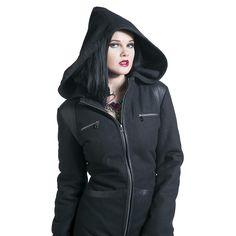 """Gothicana by EMP Zimní kabát, Ženy """"Black Love Coat"""" černá • EMP"""