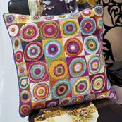 Kaffe Fassett needlepoint.  For when I am old, if my eyes haven't failed me.