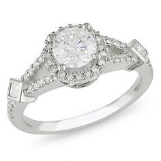 1 CT. T.W. Diamond Split Shank Engagement Ring in 14K White Gold - Clearance - Zales