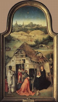 Adoration of the Magi (central panel) by Hieronymus Bosch