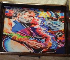 Tray/ Grateful Dead Rolling Tray/ Bob Weir Art/ Shot Glass Trays/ Food Trays/ Remote Caddys/ Wood Trays/ Rolling Trays by EasyWindFamily on Etsy