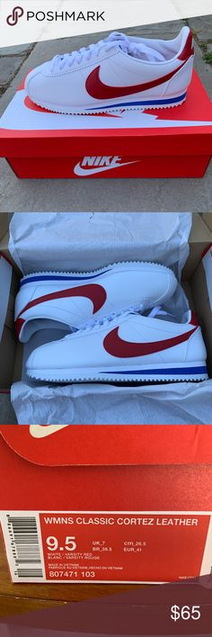 buy popular 00f05 38013 Nike women s classic Cortez leather sneakers This classic Nike Cortez is  back!! Brand new