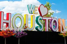 We Love Houston sign - so much fun. #GoHouston