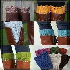 Boot Cuffs, Free Crochet Pattern Crochet boot leggings for christmas gifts this year?Crochet boot leggings for christmas gifts this year? Guêtres Au Crochet, Crochet Gratis, Crochet Boots, Knit Boots, Crochet Slippers, Crochet Clothes, Free Crochet, Knitting Patterns, Crochet Patterns