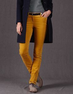 I like the color combo..and those mustard pants are so cute with ...