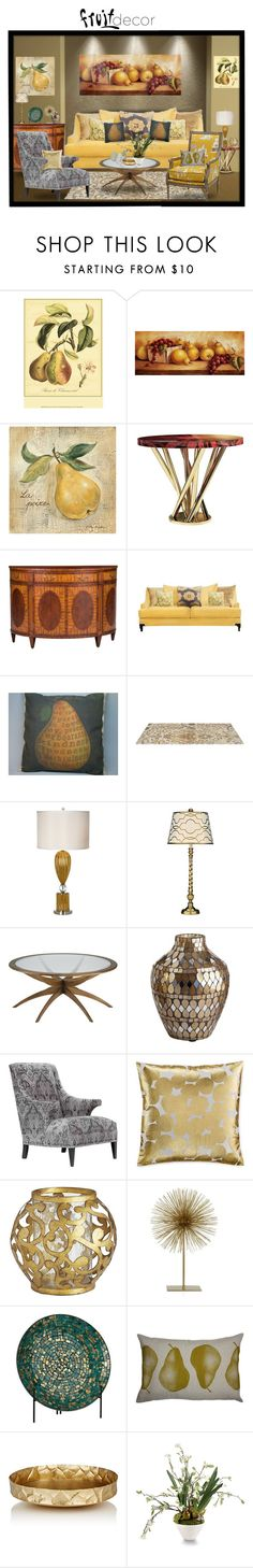 """""""The Pear Room"""" by chileez ❤ liked on Polyvore featuring interior, interiors, interior design, home, home decor, interior decorating, Malabar, Ethan Allen, Furniture of America and Pacific Coast"""