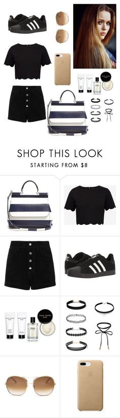 """""""Casual Glam"""" by unregistered-talent ❤ liked on Polyvore featuring Dolce&Gabbana, Ted Baker, rag & bone/JEAN, Toni&Guy, adidas, Bobbi Brown Cosmetics and Chloé"""