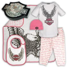 Harley-Davidson Kid's Gear, Apparel, and Accessories - Officially Licensed Motorclothes Merchandise Biker Baby, Kate Baby, Rockabilly Baby, Jeep Baby, Babies R, Baby Couture, Baby Kids Clothes, Baby Wearing, Future Baby