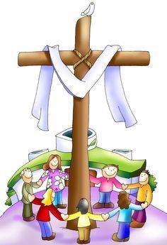 Holly Spirit, Jesus Cartoon, Jesus Artwork, Sunday School Kids, Bride Of Christ, Jesus Resurrection, Christian Kids, Jesus Pictures, Holy Week