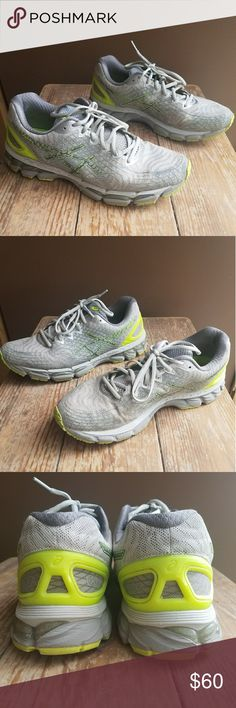 Men's Asics Gel-Nimbus 17 sneakers shoes Shoes are in excellent condition. They have multiple  minor dirt stains. Stains are not so noticeable. Asics Shoes Athletic Shoes