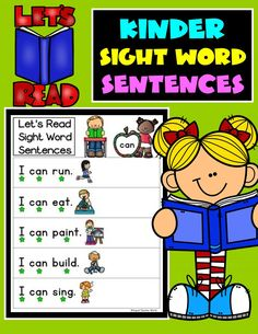These Dolch Pre-Primer sight word sentences are a perfect way to build confidence in your students as they learn and master reading their pre-kinder sight words. You can use these Sight Words Sentences with all students, at all different levels. Kinder Sight Word Sentences are perfect for Kinder Sight Word Fluency practice. Can also be used in Prek, Transitional Kindergarten, and Preschool classrooms to introduce sight words. #kinderliteracy #kindersightwords #Dolch #Dolchpreprimer #kinder Primary Resources, School Resources, Teacher Resources, Teaching Ideas, Kindergarten Blogs, Kindergarten Readiness, Teaching First Grade, Teaching Reading, Pre Primer Sight Words