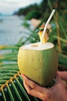 coconut water to aid in weight-loss and help after workouts. im-sexy-and-i-know-it
