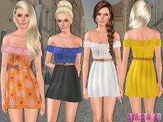 Dress with belt by sims2fanbg - Sims 3 Downloads CC Caboodle