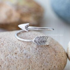 Arrow rings,adjustable ring in silver