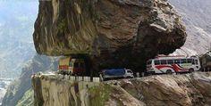 Amazing tough road in India