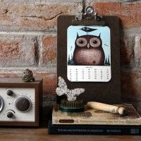 2012 Owl Lover Calendar {Free Printable} The year is over but the pictures are adorable.