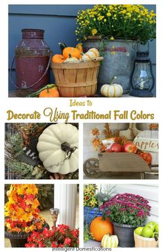 Beautiful Ideas to Decor Using Traditional Fall Colors. Fall Decor. Fall decorating ideas. How to decorate for Fall with traditional fall colors. #traditionaldecor