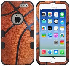 """myLife Dark Carrot Orange {Bright Colored Fashionable Basketball Design} Neo Hybrid Armor Case for the NEW iPhone 6 (6G) 6th Generation Phone by Apple, 4.7"""" Screen Version (Two External Snap On Hard Protector Plates + Full Body Internal Soft Silicone Bumper Gel Protection) myLife Brand Products http://www.amazon.com/dp/B00NI506TY/ref=cm_sw_r_pi_dp_wQepub03424DB"""