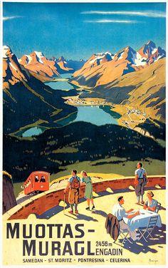 Muottas-Muragl, Switzerland. Artist: Wilhelm Friedrich Burger (1882-1964), 1937, printed by J.C. Müller A.G., Zürich.