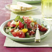 Tomatensalat mit Bulgur