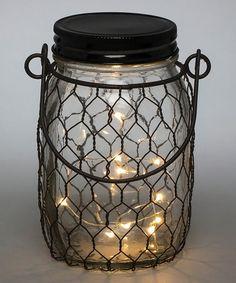 Loving this Mesh LED Mason Jar on #zulily! #zulilyfinds