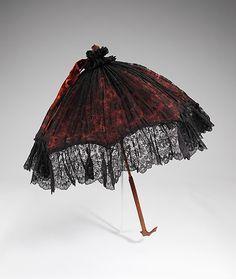 Parasol 1885, British, Made of silk, wood, and metal