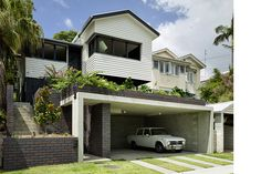 Kieron Gait Architects is a leading architectural studio based in Brisbane. We love to work on residential projects — including new builds and renovations, as well as community and commercial projects of all scales. Roof Design, Exterior Design, Interior And Exterior, House Design, Garden Design, Australian Architecture, Residential Architecture, Modern Architecture, German Houses