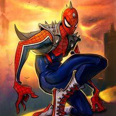 Spider-Punk by Gameloft version °° Spider-Man Spider-Verse