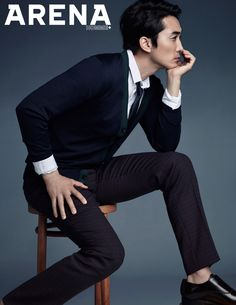 The June edition of Arena Homme Plus will have a flavor of YUM as Song Seung Heon, who's extra delectable dressed in Dior Homme suits, graces its pages. Song Seung Heon, Suits Korean, Korean Men, Jung So Min, Sung Hyun, Korea University, Classy Suits, Handsome Korean Actors, Asian Love