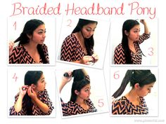 Braided Headband Ponytail- Hairstyles for dirty hair!
