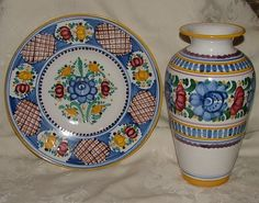 - bidStart (item 26677553 in Collectibles & Ephemera. Old Paper, My Heritage, Pattern Fashion, 1990s, Folk Art, Decorative Plates, Pottery, Vase, Pattern Ideas