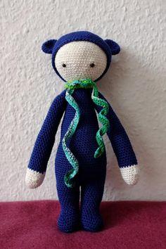 BINA the bear made by Ulrike P. / crochet pattern by lalylala