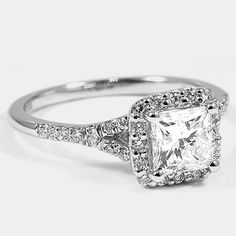 Platinum Harmony Ring // Set with a Carat, Princess, Ideal Cut, G Color, Clarity Diamond. I would like this better with a cushion or radiant cut diamond. Do It Yourself Jewelry, Do It Yourself Wedding, Wedding Engagement, Wedding Bands, Engagement Rings, Wedding Ring, Kelsey Rose, Thing 1, Dream Ring