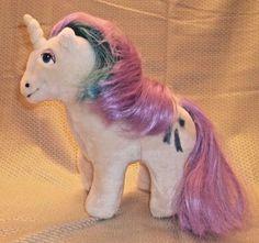 "Vintage  My Little Pony Unicorn Plush  ""Glory"" 1984 Applause #Applause"