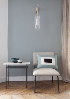 Crazy about color, Sarah Lavoine has created a collection of 36 hues. Apartment Door, Furniture Styles, Home Lighting, Floating Nightstand, Sweet Home, New Homes, House Design, Interior Design, Interior Styling