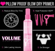 4 reasons why you should use Redken's Pillow Proof Blow Dry Primer. I love this product! I use it on all my clients and I use it at home every day!
