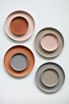35 Designers We Loved at Dutch Design Week 2018 - Sight Unseen - ceramic plates and bowls, stoneware, modern neutrals color palette, wedding reception inspiration, - Palettes Color, Neutral Colour Palette, Colour Schemes, Ceramic Tableware, Ceramic Pottery, Kitchenware, Blue Pottery, Ceramic Bowls, Ceramic Art