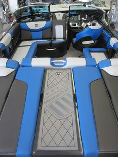 2015 MasterCraft XStar - Interior view -c town colors Wakeboard Boats, Pontoon Boat, Boat Console, Boat Upholstery, Boat Restoration, Ski Boats, Deck Boat, Boat Seats, Boat Interior