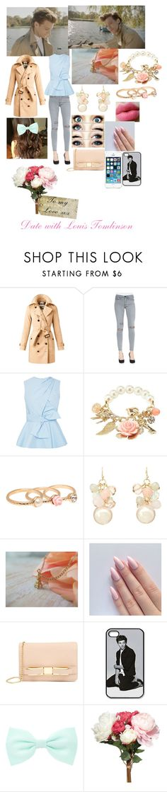 """""""A Date With Louis Tomlinson❤️"""" by miranda-x ❤ liked on Polyvore featuring Burberry, Frame, Prabal Gurung, Charlotte Russe, Leslie Danzis, Ted Baker, Accessorize, OKA and Tag"""