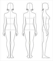 Women S Body Measurements Fashion Design Template Fashion Sketches Fashion Figures