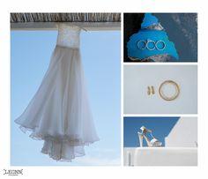 Wedding dress, wedding rings , wedding shoes details by Leonn